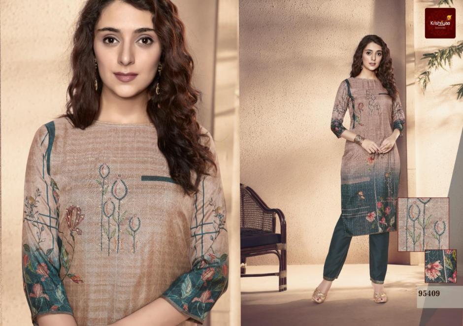 Krishriyaa elegance digital printed silk kurties with cotton pants collection