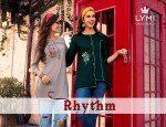 LYMI rhythm collection of heavy muslin top with embroidery work
