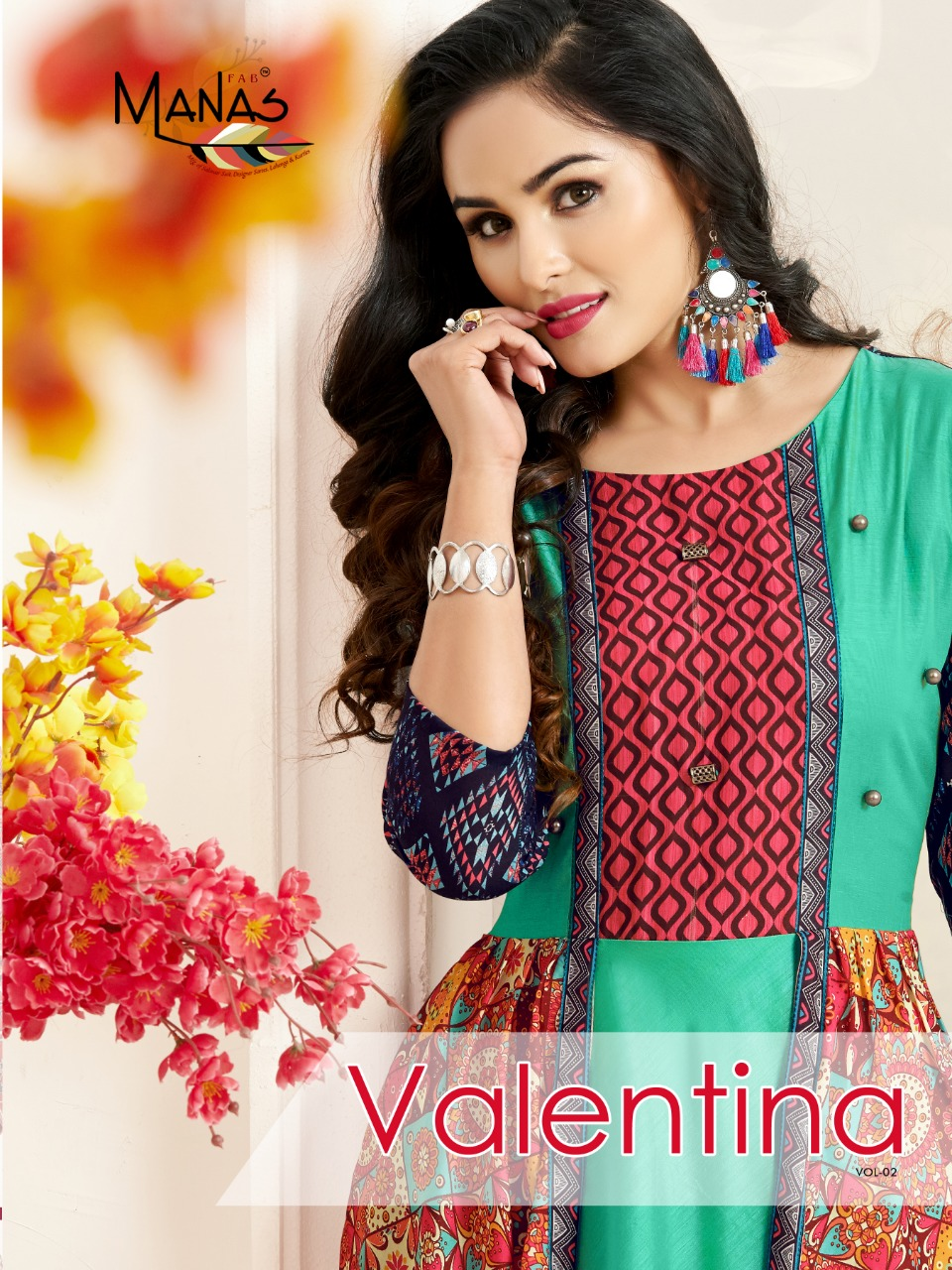 Manas Valentina vol 2 premium collection of colorful Indo Western gowns
