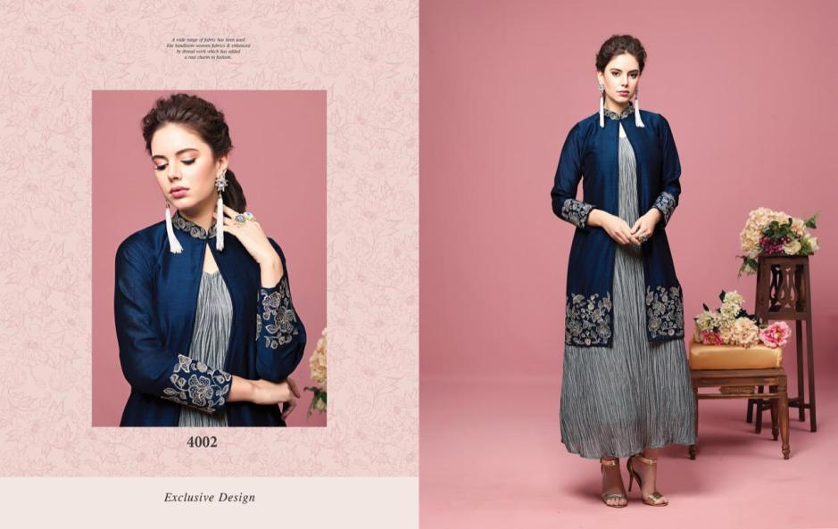 Nitara florence vol 2 drapes and jackets party wear fancy collection dealer