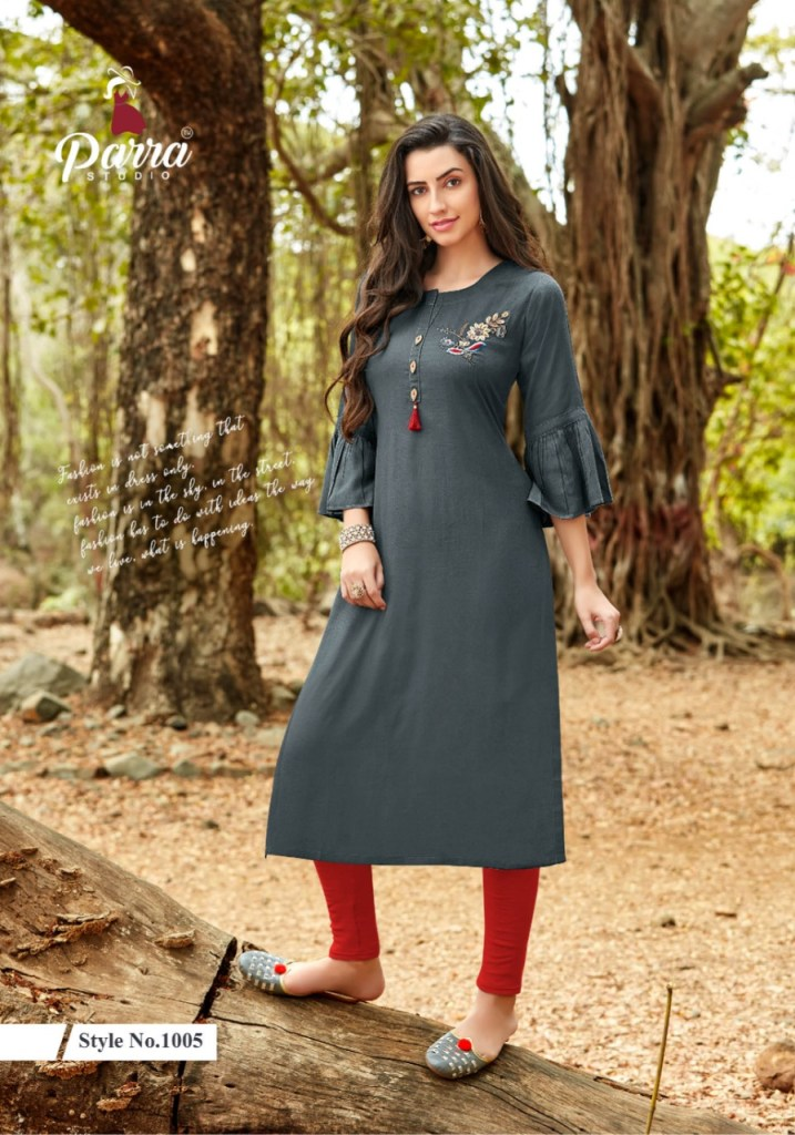 Parra studio vastram straight rayon daily wear kurties collection