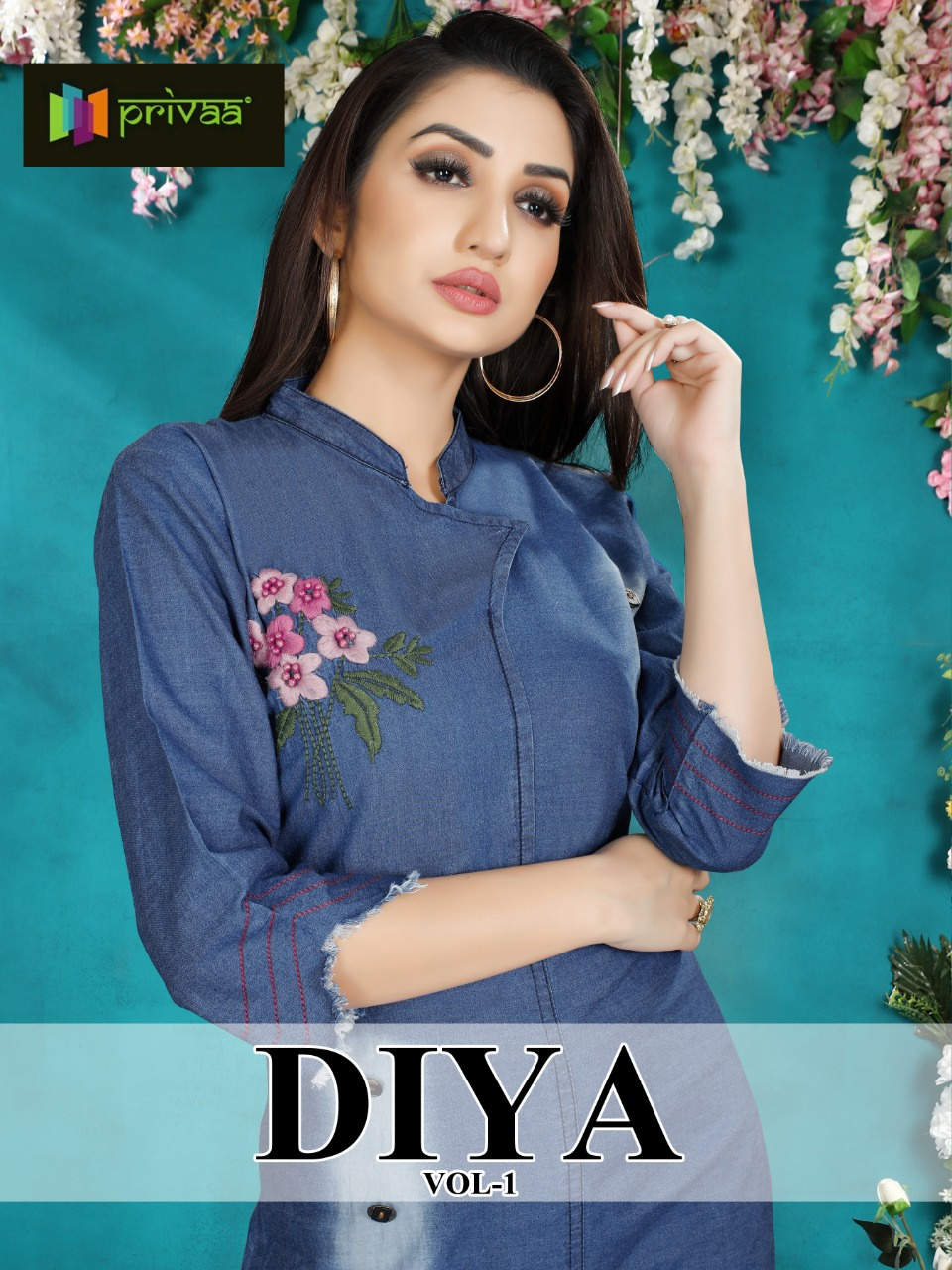 Privaa Diya vol 1 exclusive collection of denim gowns
