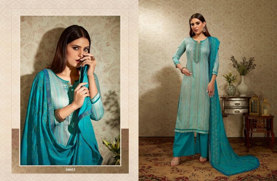 Ramaiya alfaaz cotton embroidered salwar kameez collection at wholesale rate