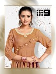 channel 9 vivana rayon exclusive look kurti with pant catalog