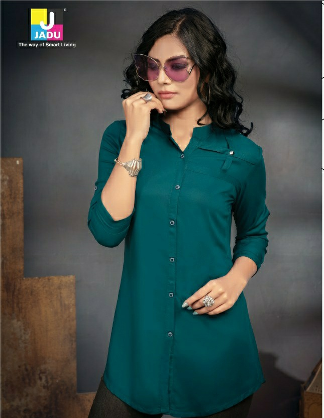 Jadu Myra 30 classic trendy look tops in wholesale prices