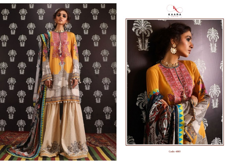 Kaara suits Sana safinaz Stylish look Winter collection Salwar suits in wholesale