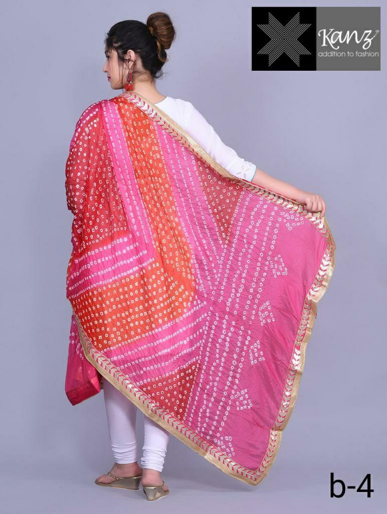Kanz scarf bandhej dupatta fancy printed dupatta online