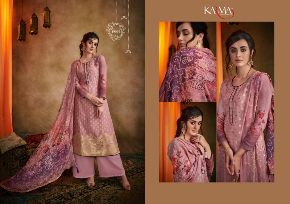 Karma trendz D.no-19008-19014 classy catchy look beautifully designed Salwar suits in wholesale prices