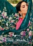 l t fashion silk route sonakshi patta flower print saree catalog