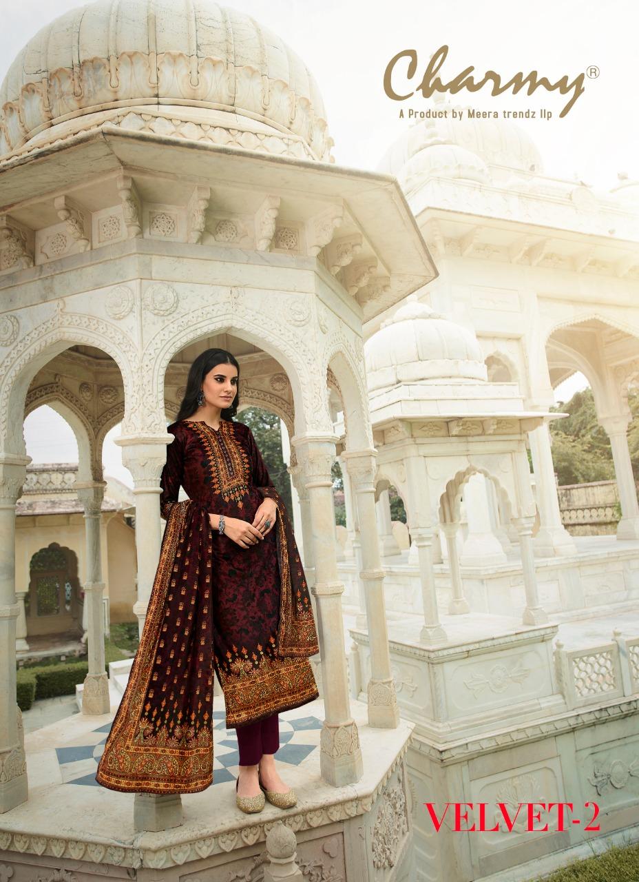 Meera trendz LLP charmy Velvet-2 Velvet digital print exclusive print salwar suit catalog