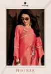 nitisha nx thai silk stunning look classic trendy fits kurties
