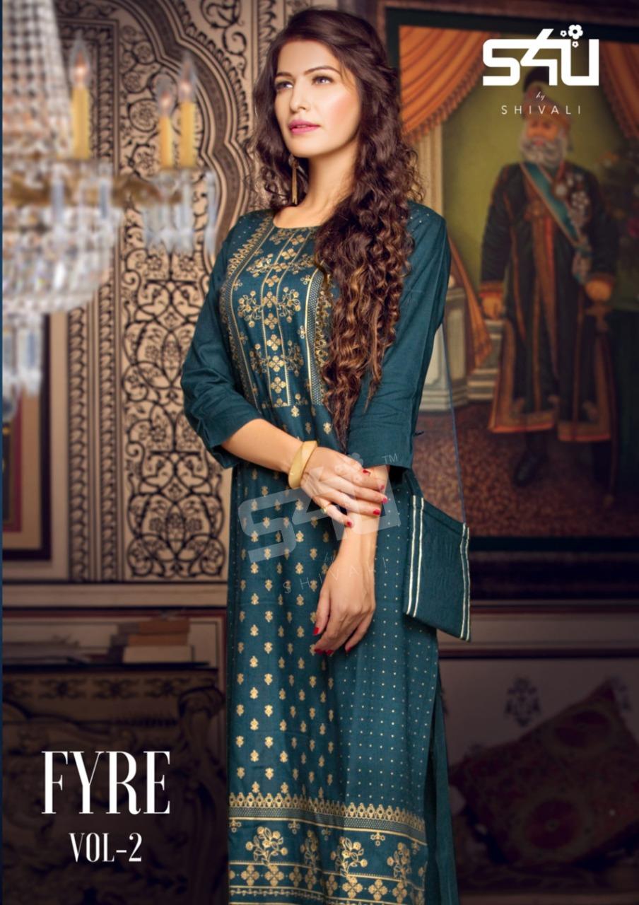 S4u by Shivali fyre vol 2 cotton  calssic trendy look kurti catalog