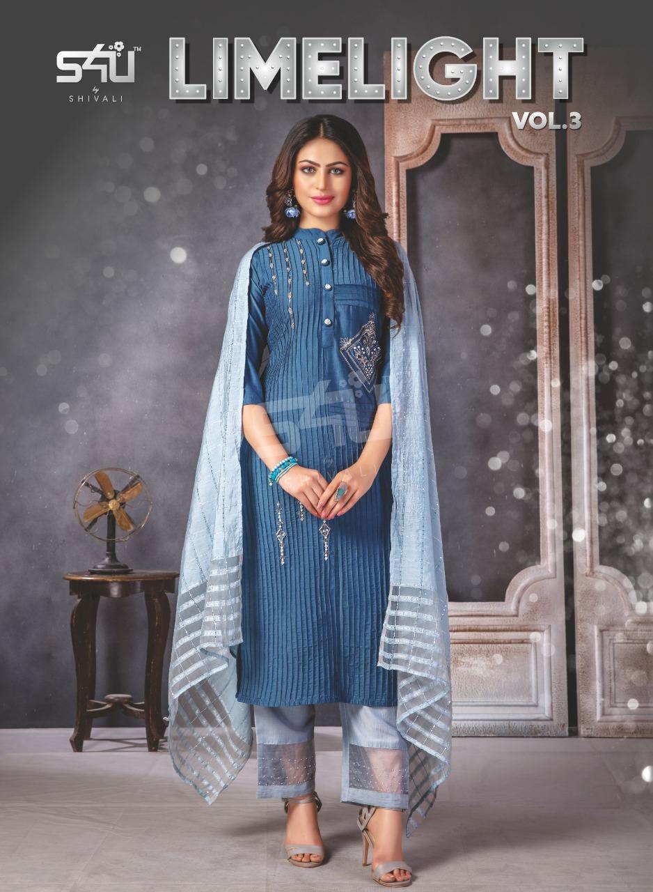 s4u by shivali limelight vol 3 gorgeous look kurti catalog