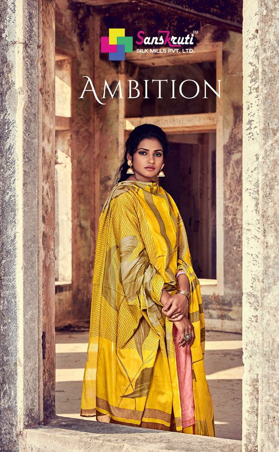 Sanskruti ambition jam silk cotton digital Printed with work Salwar suits