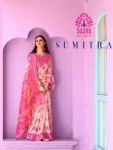 Sasya sumitra amazing look printed sarees with border