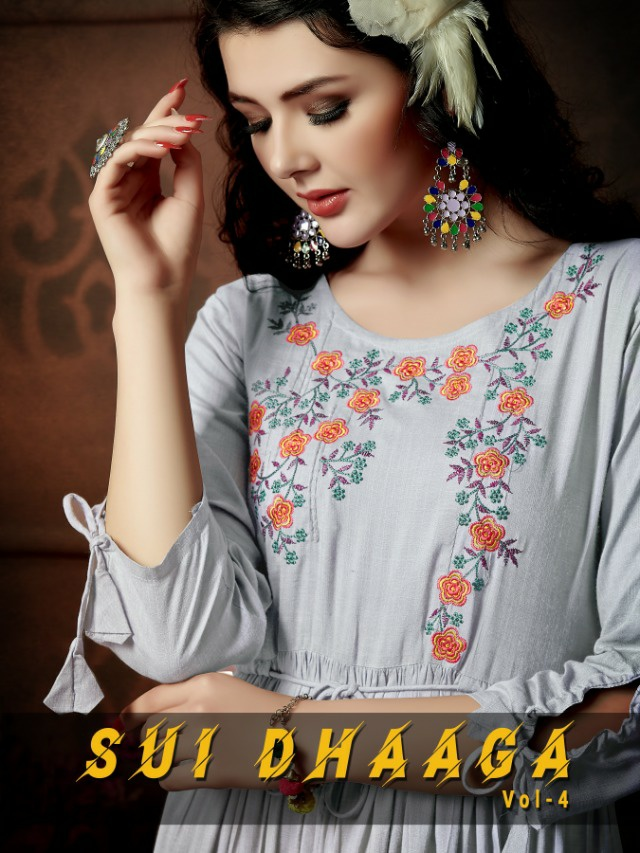 Shivasuki looks sui Dhaaga vol-4 classy catchy look Gowns in wholesale prices