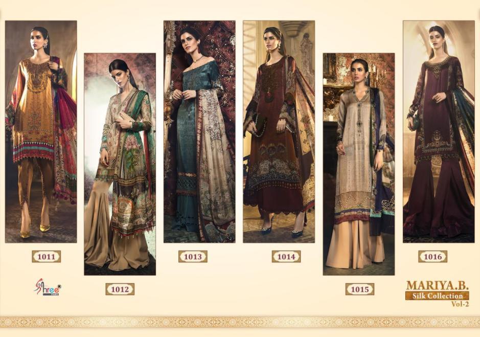 shree fab maria b silk collection vol-2 stylish classy trendy look salwar suits