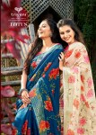 triveni lotus cotton printed beautifull and classic look sarees catlog