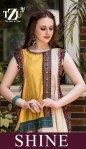 tzu shine chanderi and muslin silk innovative style kurti catalog
