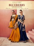 Vallabhi Prints blueberry charming look beautifully designed sarees in factory prices