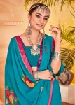 Vallabhi prints chaitanya stylish border printed saree in wholesale prices