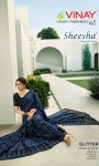 vinay fashion glitter astonishing style beautifully designed silk georgette with sarvoski work sarees