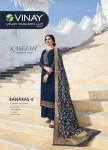 Vinay Fashion Kaseesh Georgrtte banaras 6 satin elegant look salwar suit catalog