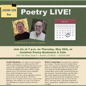 Reading in Boulder on Thursday…