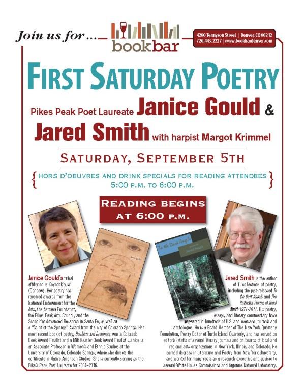 Janice Gould, Jared Smith, Margo Krimmel BookBar Reading