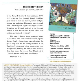 Details about My New & Selected Poems (the AWP flyer)