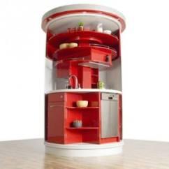 Compact Kitchens Online Kitchen Design 圆形紧凑智能厨房 广州帝金御橱柜定制