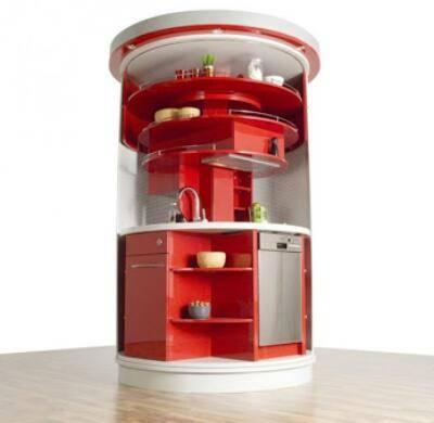 compact kitchens kitchen faucets bronze 圆形紧凑智能厨房 广州帝金御橱柜定制