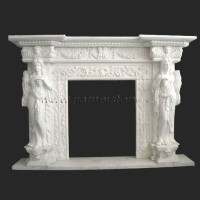 Marble fireplaces surrounds mantles travertine sandstone ...