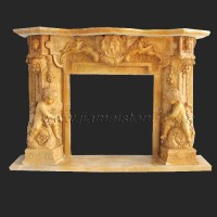 Fireplace SC017 - Marble fireplace surround statue carved ...