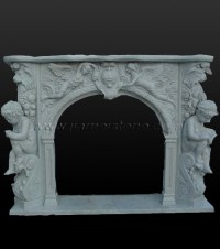 Fireplace SC027 - Marble fireplace surround statue carved ...