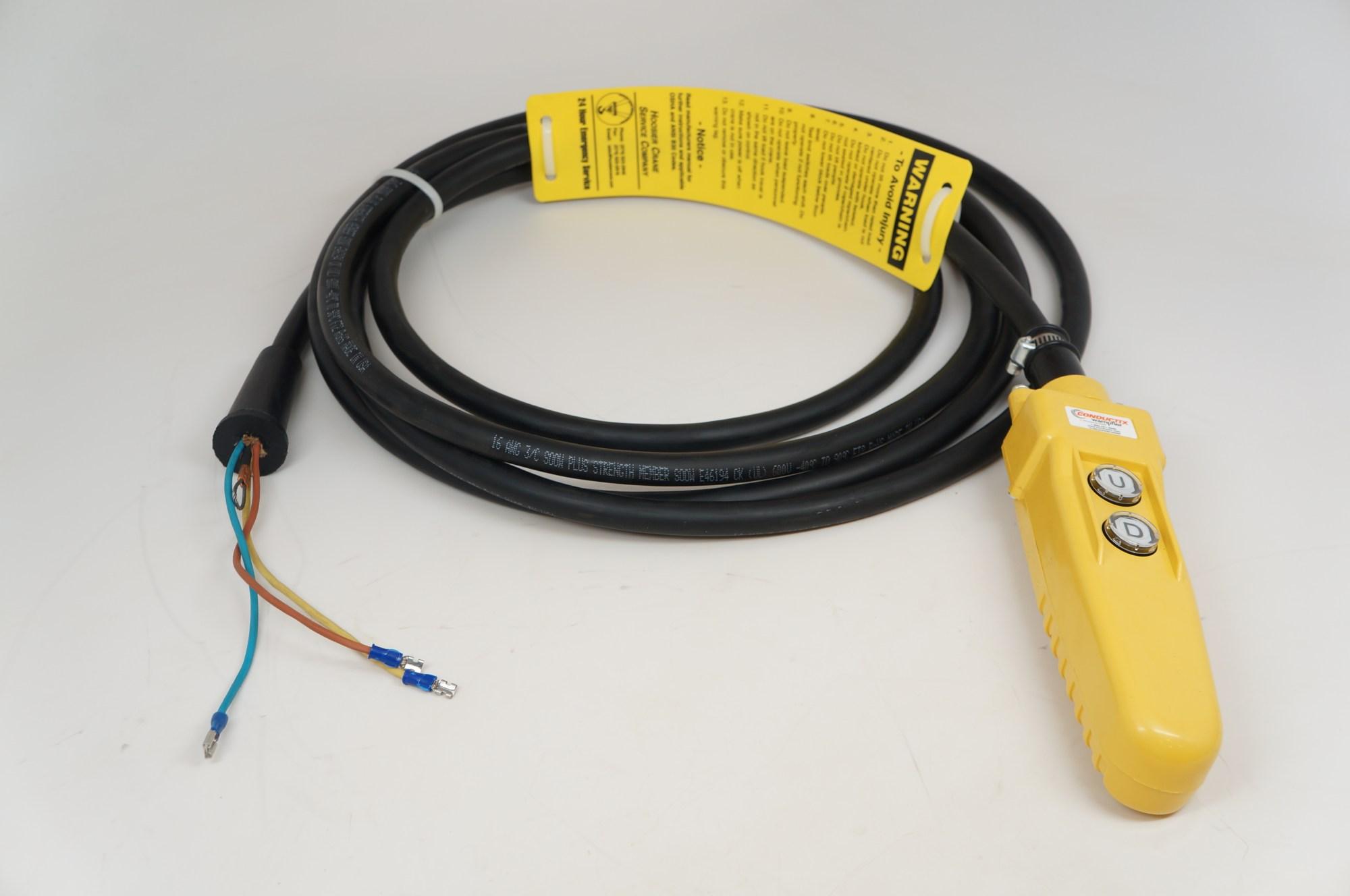 hight resolution of pendant control station for cm chain hoist 21 cord for lodestar valustar jib cranes jibcranes com 1 jib crane supplier
