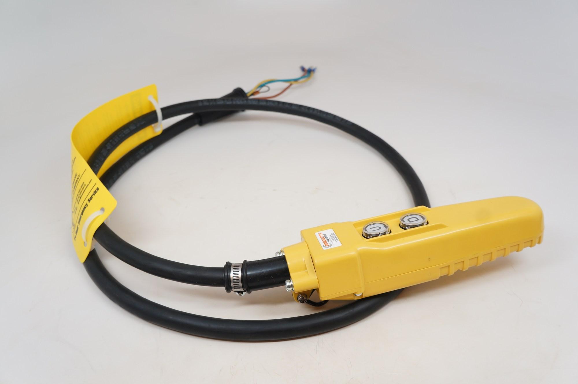 hight resolution of 6 ft pendant control station for cm chain hoist 6 cord jibcranes com 1 jib crane supplier