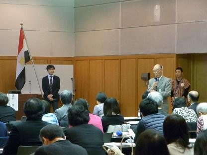 東京講演での質疑応答の様子(中村リーダー)