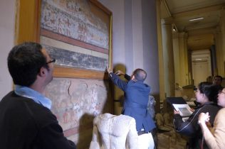 Condition Check on target mural painting artifacts