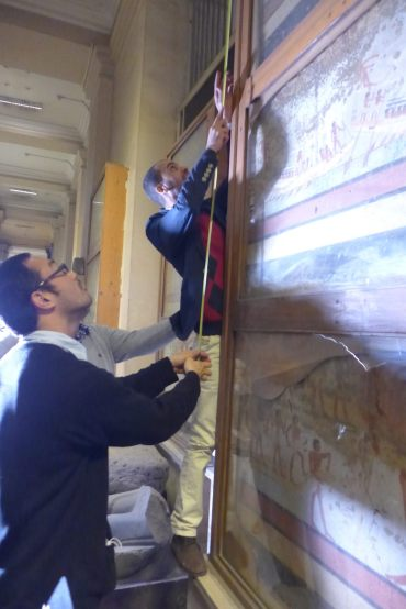 Condition Check on the target mural painting artifacts