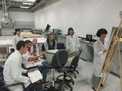 Ms.Ishii Explaining to the textile team