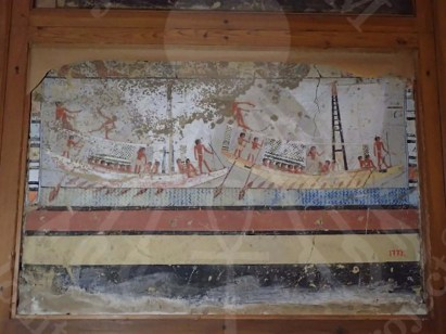 one of the mural paintings that were transported to GEM