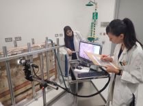 Ms.Narita with Ms.Hanan Conducting analysis with Digital Microscope