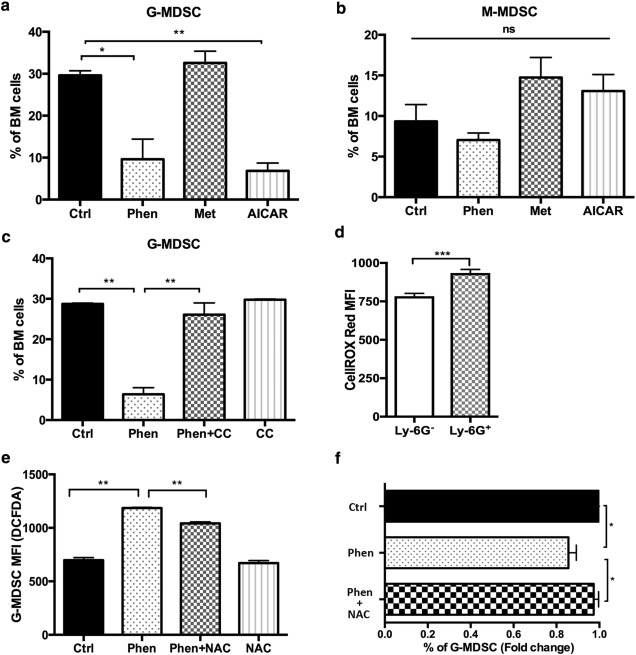 Phenformin Inhibits Myeloid-Derived Suppressor Cells and