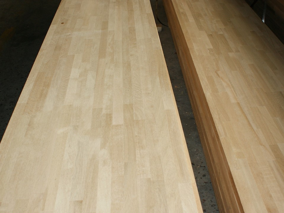 kitchen tops wood light for white oak worktops jieke we produce quality finger jointed panels countertops table top bar island butcher block