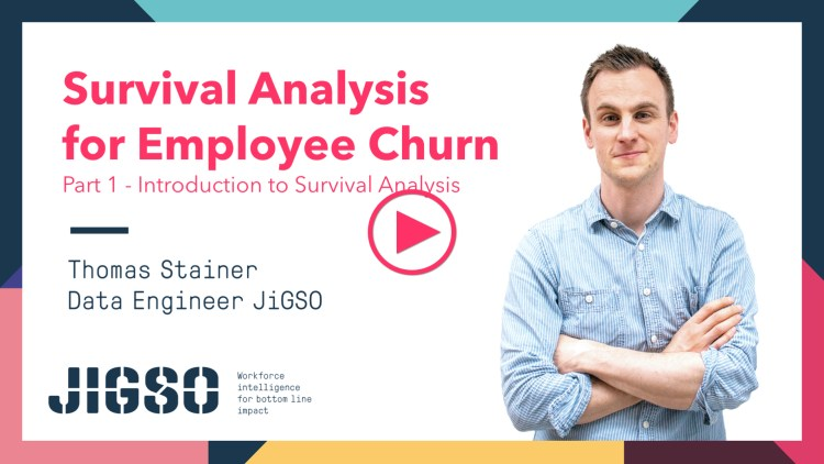 JiGSO - Survival Analysis for Employee Churn - Pt 1: Introduction to Survival Analysis by Thomas Stainer