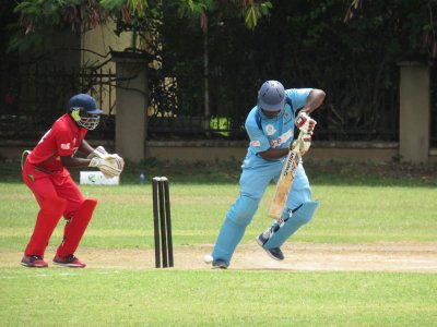 Cricket players in Dar es Salaam