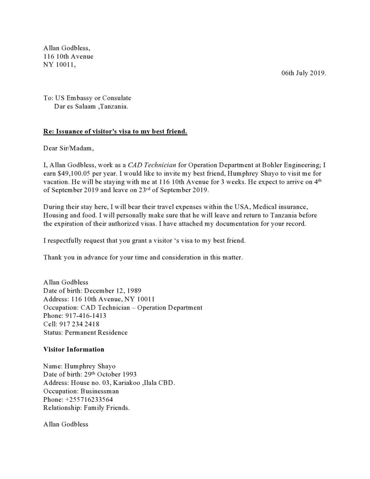Invitation-Letter-for-Visa-Application-Sample-page0001 Visa Application Letter Format on for advance, business owners, employer for,
