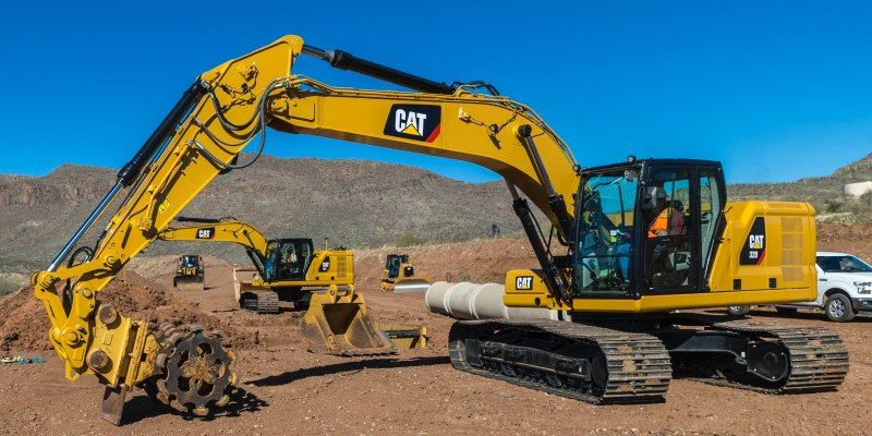Latest Caterpillar excavators model