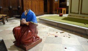 France: Statue found beheaded inside chapel